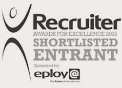 Recruiter Award For Excellence Shortlisted 2013